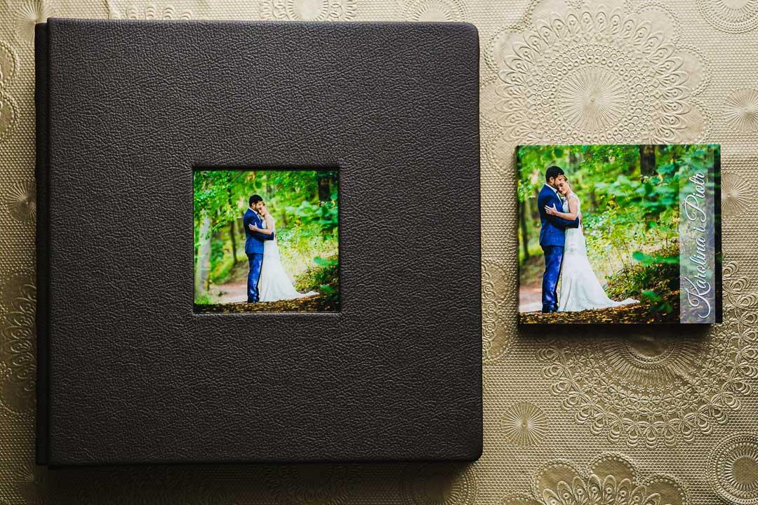 Album ślubny tradycyjny z okienkiem na zdjęcie