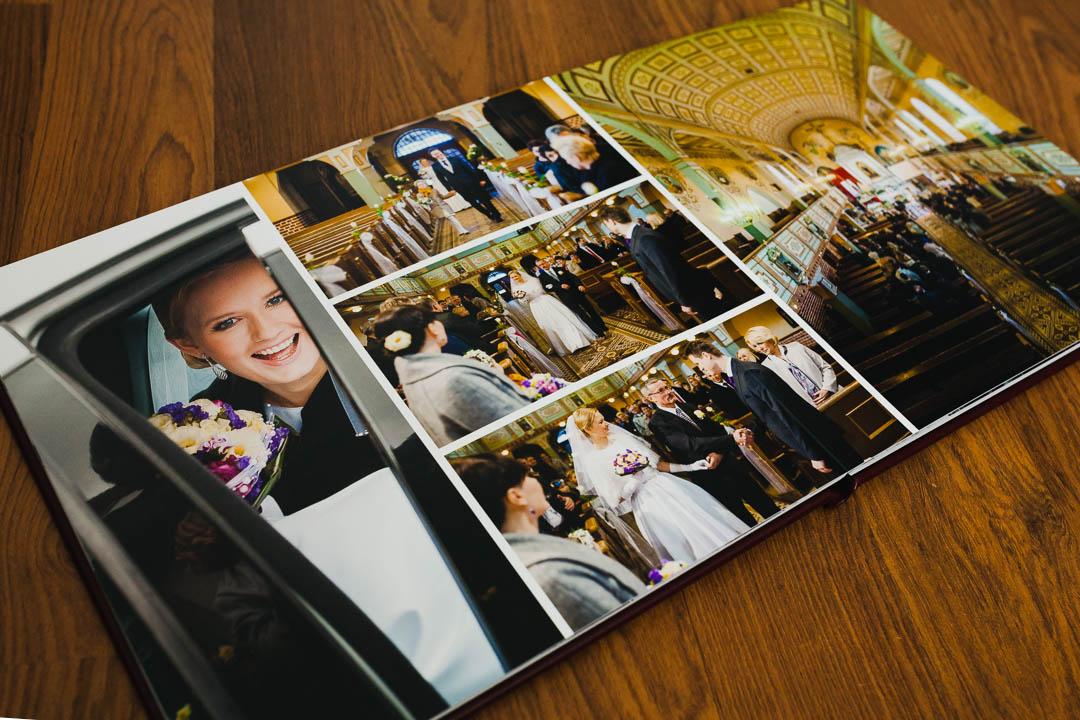 Fotoalbum ślubny, zdjęcia w kościele
