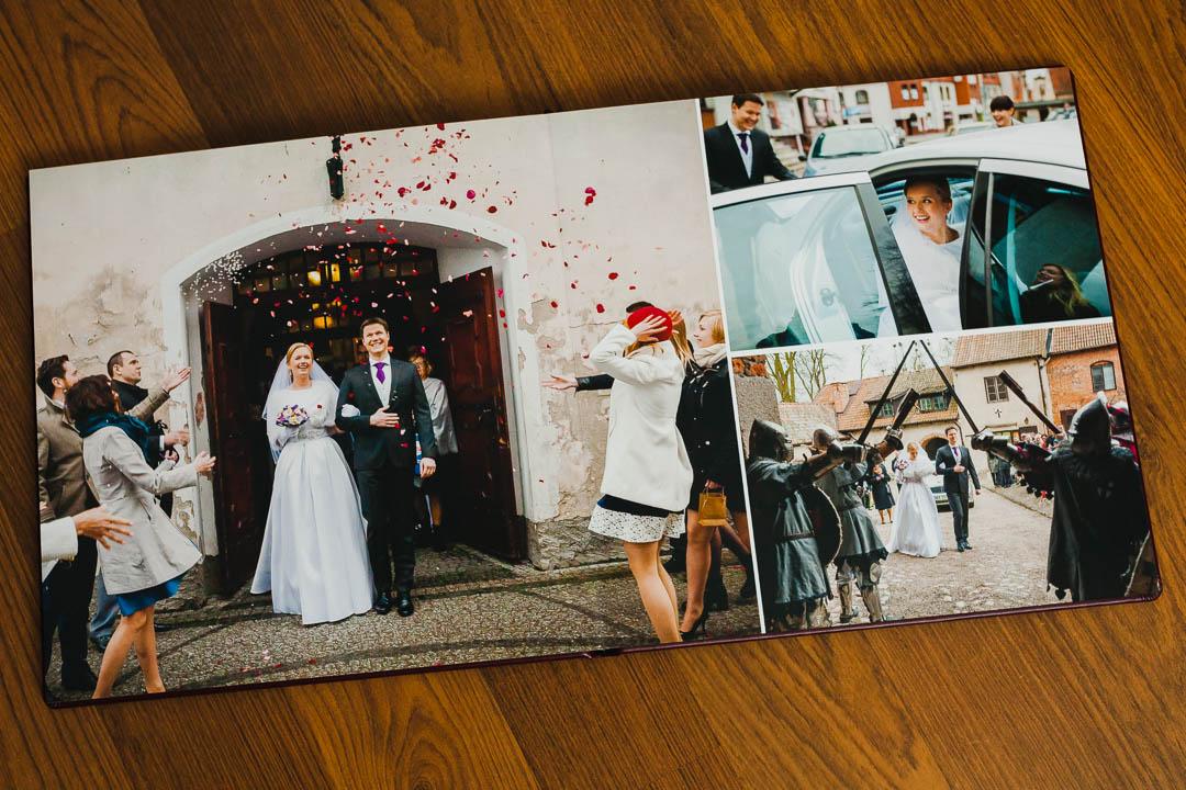 Zdjęcia Pary Młodej w fotoalbumie ślubnym