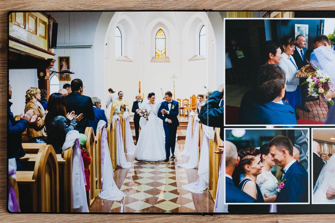 Zdjęcie pary młodej w kościele