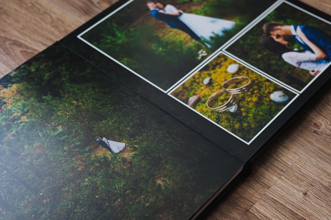 Zdjęcie pary młodej sesja w lesie