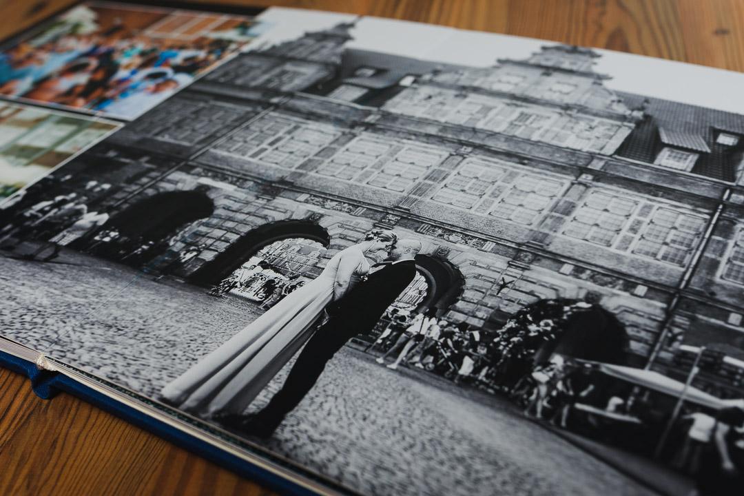 Zdjęcie ślubne z Gdańska w fotoalbumie
